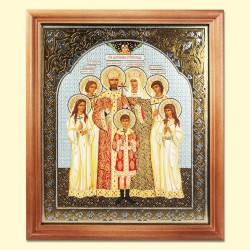 """Icône """"Saint Famille Romanov""""/Икона """"Царская семья"""", 24x20 cm"""