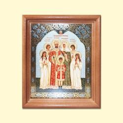 """Icône """"Saint Famille Romanov""""/Икона """"Царская семья"""", 13x15 cm"""