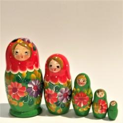 Matriochka Traditionnelle - Classique, 5 pièces, hauteur 9-11 cm
