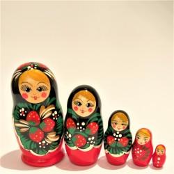 Matriochka 5 pièces, hauteur 9-11 cm