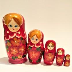 Matriochka 5 pièces, hauteur 14-16 cm
