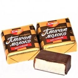 """Confiserie de chamallow """"Lait d'oiseaux"""" a la crème de vanille enrobée de glaçage au cacao , 100 gr"""