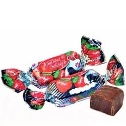 Confiserie a la crème de Framboise enrobée de glaçage au cacao , 100 gr