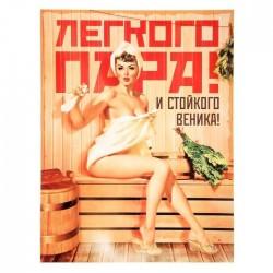 """Плакат банный """"Легкого пара и стойкого веника"""""""