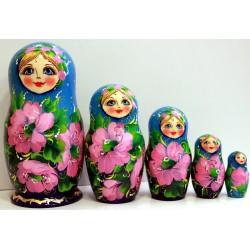 Matriochka 5 pièces, hauteur 17-19 cm