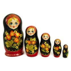 Matriochka Originales, 5 pièces, hauteur 17-19 cm